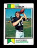 1973 Topps ROOKIE Football Card #487 Rookie Hall of Famer Ken Stabler Oakla
