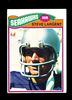 1977 Topps ROOKIE Football Card #177 Rookie Hall of Famer Steve Largent Sea