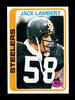 1978 Topps Football Card #165 Hall of Famer Jack Lambert Pittsburgh Steeler