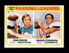 1978 Topps Football Card #331 Passing Leaders Griese-Staubach. NM+ Conditio
