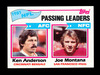 1979 Topps Football Card #257 Passing Leaders Anderson-Montana. NM+ Conditi