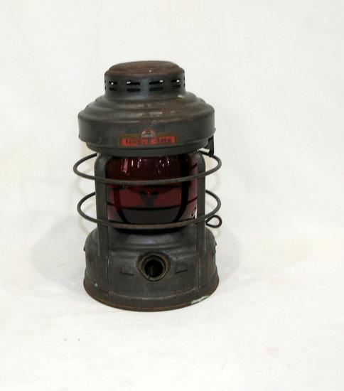 "Vintage 1950's Embury Kerosene ""Luck-E-Lite"" 30 Day Buoy Lantern With Origi"