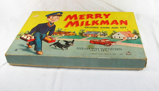 Vintage 1950s Merry Milkman Board Game 2610 Exciting Game And Toy Very Good