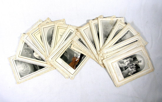Early 1900s Antique French Paper Lace Prayer Cards Holy Cards Early.