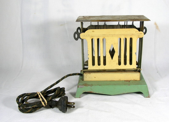 Vintage 1930's Handy Hot Toaster Not Tested Good Condition.  Stands 7-1/4""