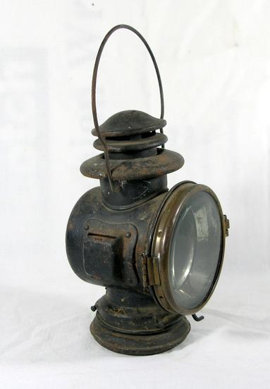 "Antique Car/Buggy Kerosine Lamp  9"" Total Height."
