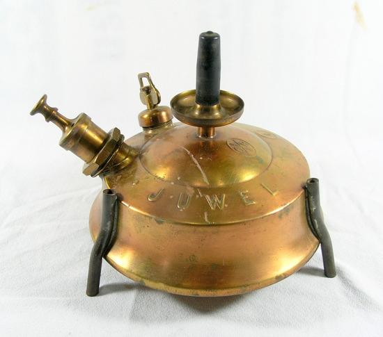 Antique 1910 Brass Stove G&B Barthel Juwel Number 6 Globe Gas Light Co for