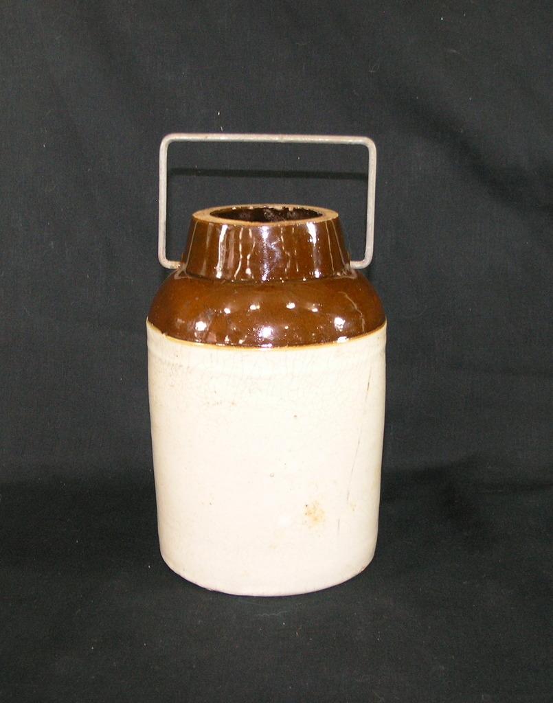 Vintage Stoneware Fruit/Cannng Jar (Missing Cap) Stamped 30 On Bottom. Othe