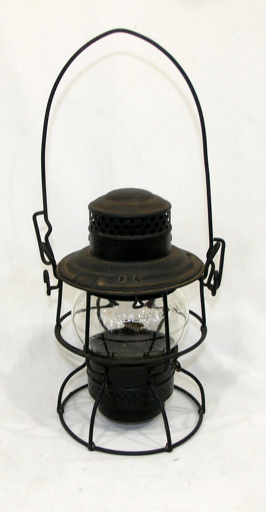 Vintage Adams And Westlake Kero 236 Railroad Lamp Clear Glass Globe Marked