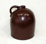 Vintage Large Stoneware Jug Reddish Brown In Color Unmarked. In Good Condit