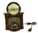 Vintage Mastercrafters Model 272 Fire Place Electric Clock Manufactered By