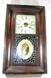 Vintage Wm. L. Gilbert Clock Co. Wall Clock Wooden Construction With Glass