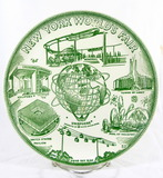 1961 New York  Worlds Fair Commemorative Plate.  9-1/4