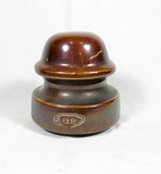 Vintage Brown Porcelain Illinois Insulator 28-235 Great Condition No Crachs