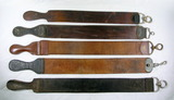 (5) Vintage Leather Sharpening Strops .  All Near 25