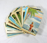 (75) Vintage Vacation Themed Post Cards Featuring Scenes And Vistas From Va