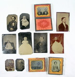 (12) Antique Tin Type Photos