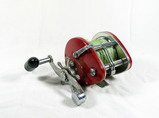 Vintage Olympic Ocean Side 303 Trolling Reel. Made in Japan. Very Good Used