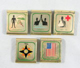 (5) Vintage Boy Scouts of America Belt Slides