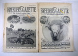 (2) Breeders Gazette Magazines from 1913 and 1914.