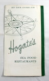 Vintage Food Menu From World Famous Hogates Sea Food Restaurants in Ocean C