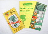(3) Vintage Mercury Outboard Boat Motor Sales Pamphlets and Owners Guide.
