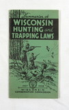 1937-1938 Wisconsin Hunting and Trapping Laws Booklet. 3-1/2