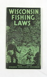 1939-1940 Wisconsin Fishing Laws Booklet.  3-1/2