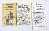 1964 Wisconsin Fishing regulations, 1981-82 Wisconsin Fishing Regulations,