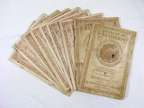 1905 Lessons in Taxidermy Booklets. 9-Books with Lessons 1 thru 40.