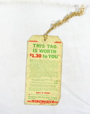 Vintage advertising Tag from the Winchester Repeating Arms Company. 3