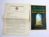 1931 Better Gardening Manual on What, When, and How to Plant a Garden and L