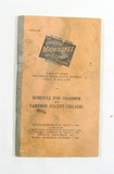 1937 The Chicago Milwaukee and St Paul Railway Passenger Service Rates Book