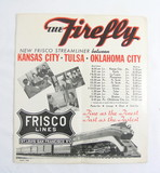 May 1940 Frisco Lines The Firefly Frisco Streamliner Schedule Booklet.
