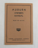 1930s Auburn Automitive Company Models 852 and 654 Owners Manual Excellent