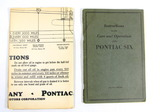 1930s Pontiac Six Instruction, Care and Operation Manual with Lubrication C