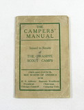 1923 Scout Campers Manual Issued to the Owasippe Scout Camps Chicago Counci