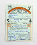 1978-1979 DNR Sportsmen's License and Duck Stamps