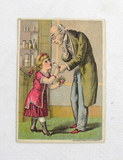 Late 1800s Victorian Advertisement Card for Dr. Isaac Thompson's Celebrated