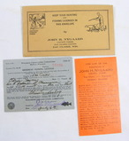 1940 Wisconsin Resident Fishing License & Envelope