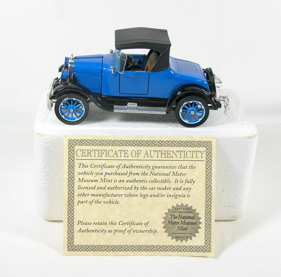 Diecast Replica of 1925 Chevy Series K Superior Roadster From National Moto