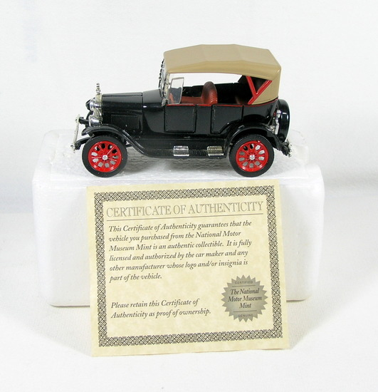 Diecast Replica of 1927 Ford Model T Touring From National Motor Museum Min