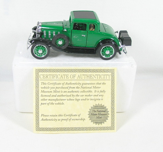 Diecast Replica of 1932 Chevy Coupe From National Motor Museum Mint 1/32 Sc