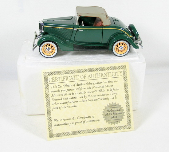 Diecast Replica of 1933 Ford  Deluxe Roadster From National Motor Museum Mi
