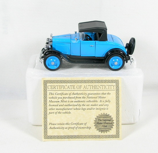 Diecast Replica of 1928 Chevy Series AB Roadster From National Motor Museum