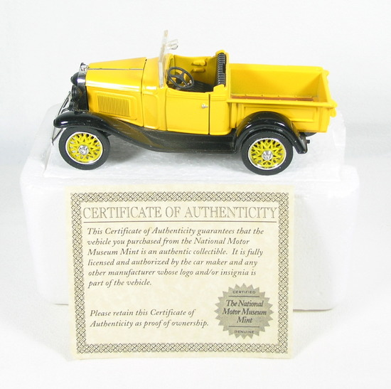 Diecast Replica of 1932 Chevy Open Cab Pickup From National Motor Museum Mi