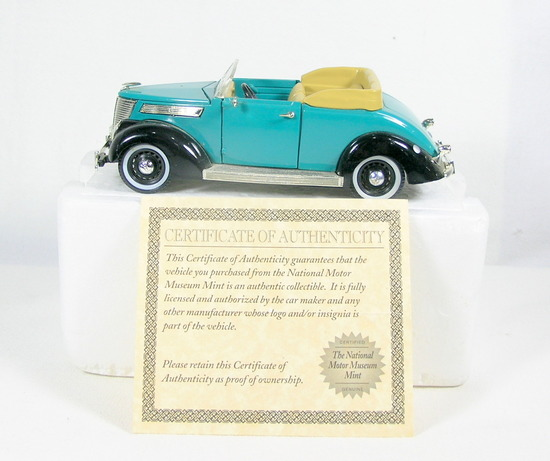 Diecast Replica of 1937 Ford Convertible Sedan From National Motor Museum M
