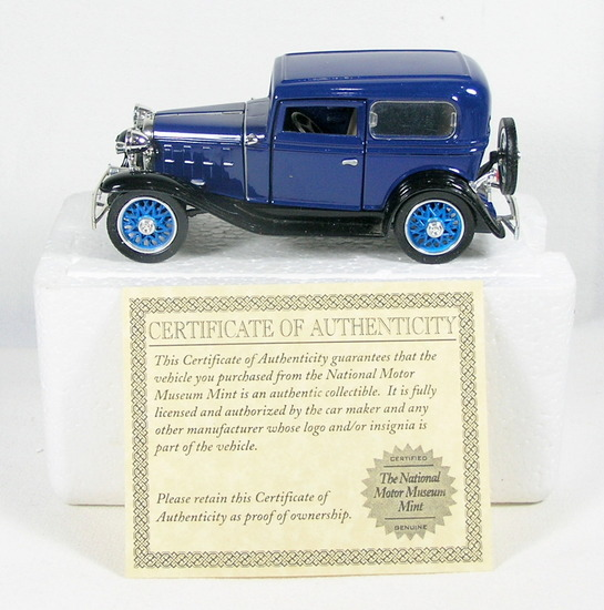 Diecast Replica of 1932 Chevy Standard Coach From National Motor Museum Min