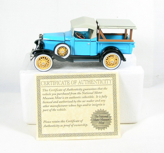 Diecast Replica of 1932 Chevy Roadster Pickup From National Motor Museum Mi