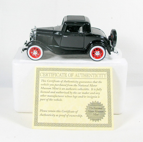 Diecast Replica of 1932 Ford 3-window Coupe From National Motor Museum Mint
